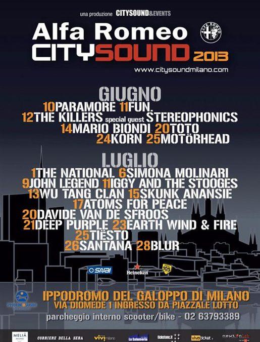 Concerti CitySound 2013